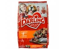 DARLING Корм сухой для взрослых собак, с курицей и добавлением овощей