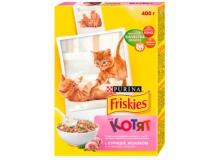 Cухой корм Friskies для котят с курицей, молоком и овощами