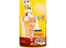 Cухой корм Friskies для взрослых кошек с мясом и полезными овощами