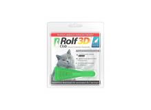 Rolf Club 3D Капли для кошек до 4 кг. от клещей и блох