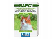 Барс, капли для кошек против блох и клещей, 1 пип