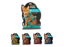 Комплект шлейка и поводок для кошек из капрона, 400*300*85мм; 10*1500мм