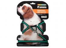 Комплект шлейка и поводок для щенка из капрона, 280-340*85мм;10*1300мм