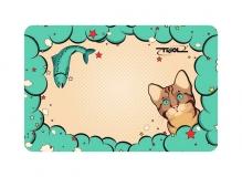 Коврик под миску «Кошечка», 430x280мм