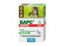 Барс ФОРТЕ капли для котят против блох и клещей, 1 пип