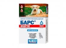 Барс ФОРТЕ капли инсектоакарицидные для щенков, 1 пип