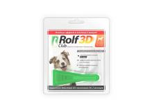 Rolf Club 3D Капли для собак 10-20 кг от клещей и блох