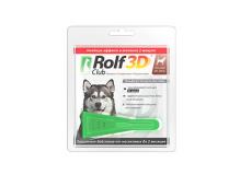 Rolf Club 3D Капли для собак 20-40 кг от клещей и блох