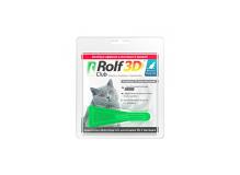 Rolf Club 3D Капли для кошек более 4 кг. от клещей и блох